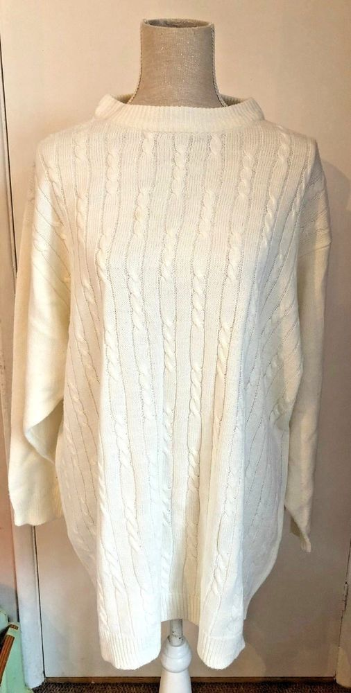 Ladies Nuggets Classic Collection White Knitted Jumper Size