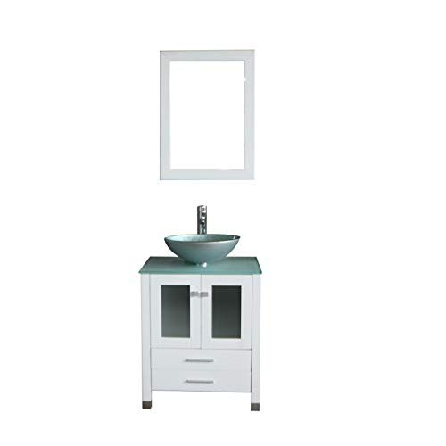 Walcut 24 Inch White Bathroom Vanity And Sink Combo Moder Https Www Amazon Com Dp B075cxs6ww Ref Cm S White Bathroom White Vanity Bathroom Trendy Bathroom