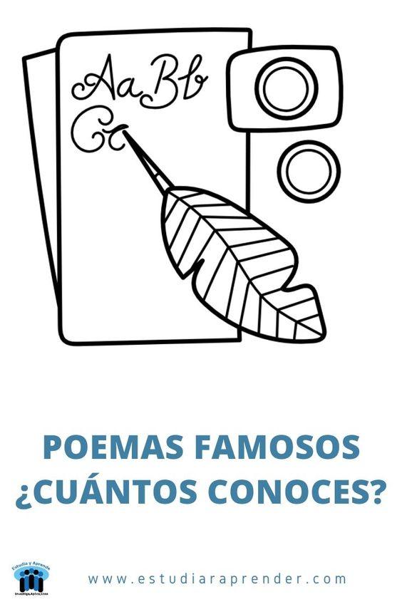 poemas conocidos de autores famosos