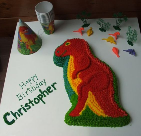Dinosaur Birthday Cake Wilton: All Buttercream, Wilton Dinosaur Pan