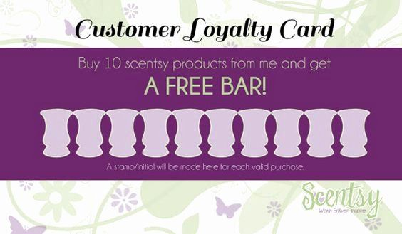 Scentsy Loyalty Cards New Scentsy Customer Loyalty Cards By Mycrazydesigns On Etsy Customer Loyalty Cards Loyalty Card Template Loyalty Card