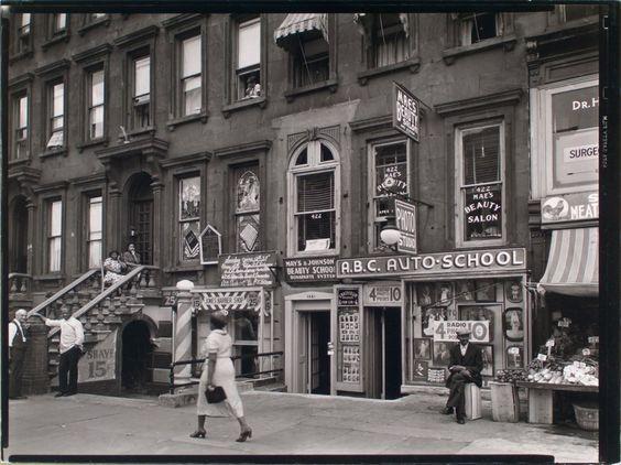 422-424 Lenox Avenue, Harlem, Manhattan Photo by Berenice Abbott
