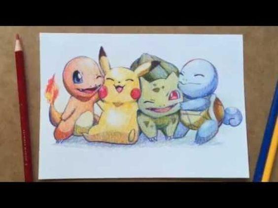 Coloriage Dessin Fanart Pokemon avec 3 crayons de couleurs !