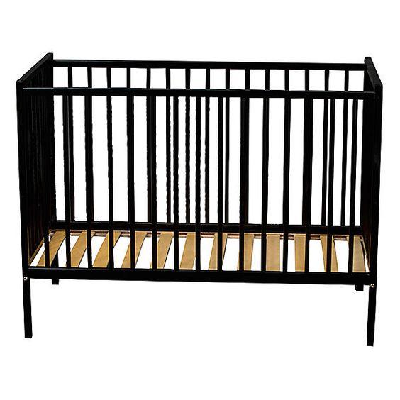 Babybett REMI, Buche massiv, 60 x 120 cm, schwarz, COMBELLE | myToys