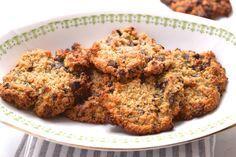 Peer en havermout koekjes, ipv honing heb ik suikervrije perzik jam gebruikt, best een lekker koekje