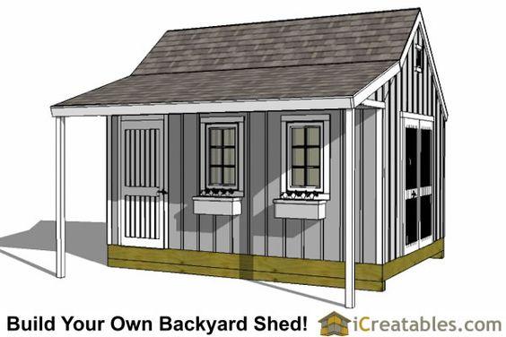 Garden Shed Plans - Backyard Shed Designs - Building a Shed