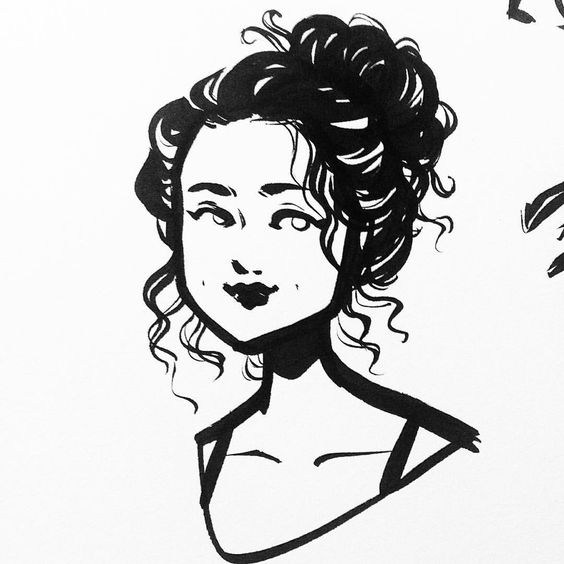 I've been a little blocked these days, but no less motivated to work out those kinks! Here's one of the billion little faces I've doodled 😊 • #art #illustration #characterdesign #design #sketchbook #artistsoninstagram #ink