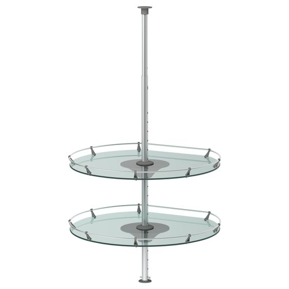 I admit I hate these things for a base cabinet, but for an upper wall cabinet, maybe... RATIONELL Wall corner cabinet carousel - IKEA