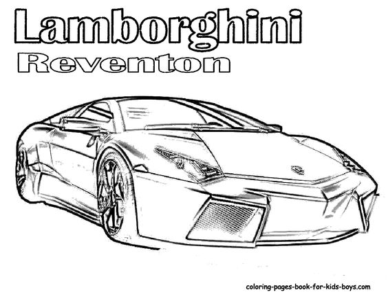 Coloring pages Cars and Fast cars