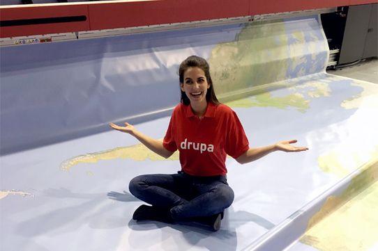 Une carte géante du monde imprimée à la Drupa
