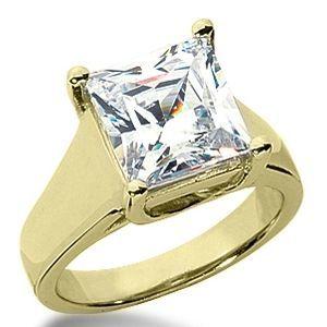 Diamantring 1.00 Karat Solitär Princessschliff - 585er Gelbgold