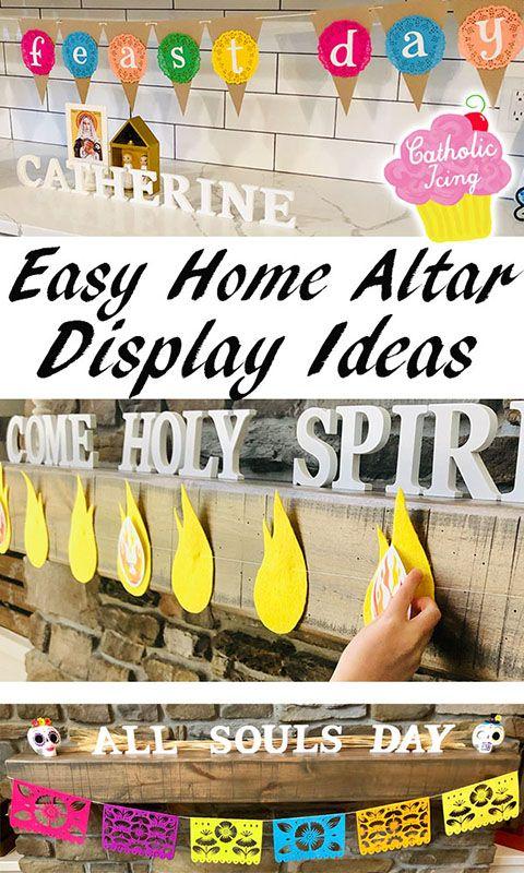 Home Altar Idea Liturgical Scrabble Home Altar Home Altar Catholic Catholic Decor