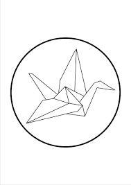 origami drawing crane origami tattoo pinterest origami dessins et recherche. Black Bedroom Furniture Sets. Home Design Ideas