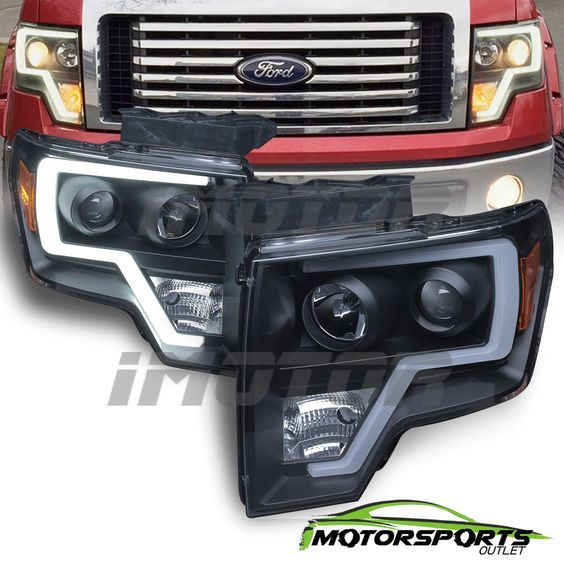 2014 F150 Headlights >> Details About Fit 2009 2014 Ford F150 Polished Black