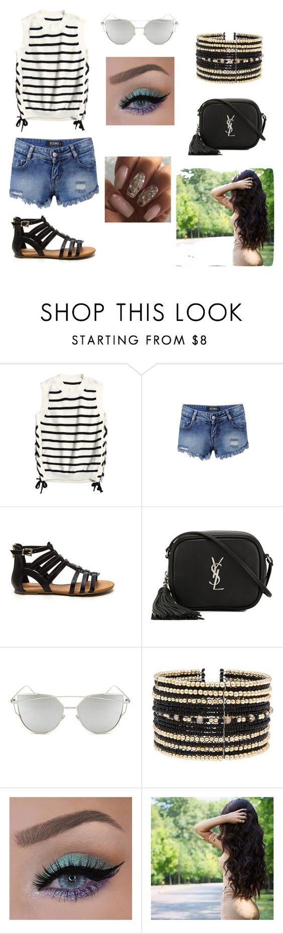 """""""Untitled #37"""" by alyssacreasy ❤ liked on Polyvore featuring Yves Saint Laurent, Chicnova Fashion and Eloquii"""