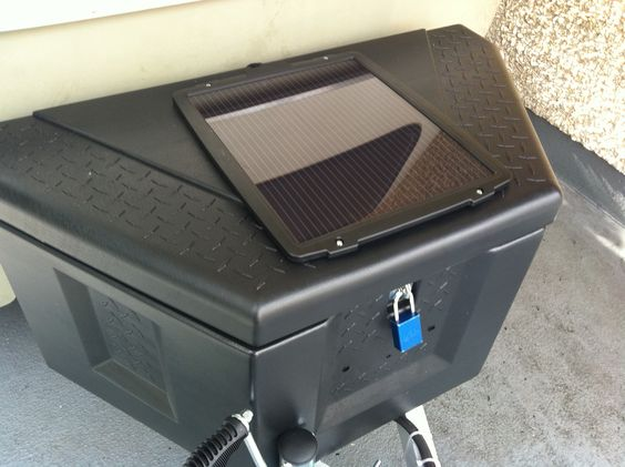 Solar System For Rv Battery Box : Solar panel for the trailer plastic cargo box to hold