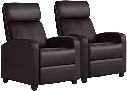 New Yaheetech Leather Home Theater Seating Single Recliner Chair