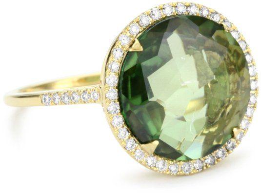 Suzanne Kalan Round Green Envy Topaz Ring
