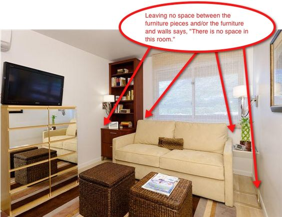 Staging small spaces part 3 furniture arrangement the for Small bedroom arrangement