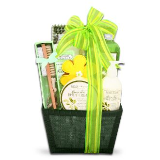 Green Tea Gift Basket ($39.99)- For the gift of ultimate relaxation, our wonderful basket contains all the necessary components. Go ahead, soothe yourself with the scent of wonderful Green Tea.