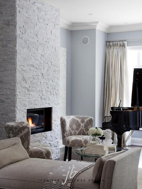 Paint colors white stone fireplaces and living rooms on - Contemporary paint colors for living room ...
