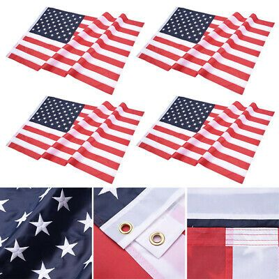 Ad Ebay Url 4pcs 3x5ft American Flag Embroidered Stars Sewn Stripes Grommets 210d Oxford American Flag Stars American Flag Gadsden Flag