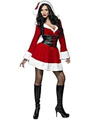 Ladies Fever Hooded Santa Costume