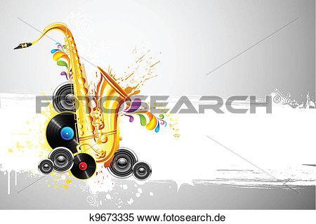 saxophon, und, sprecher Große Clipart Grafik anschauen