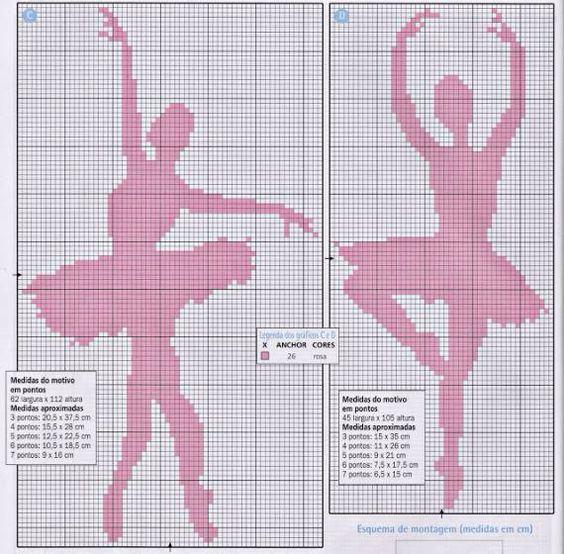 Ponto cruz bailarina