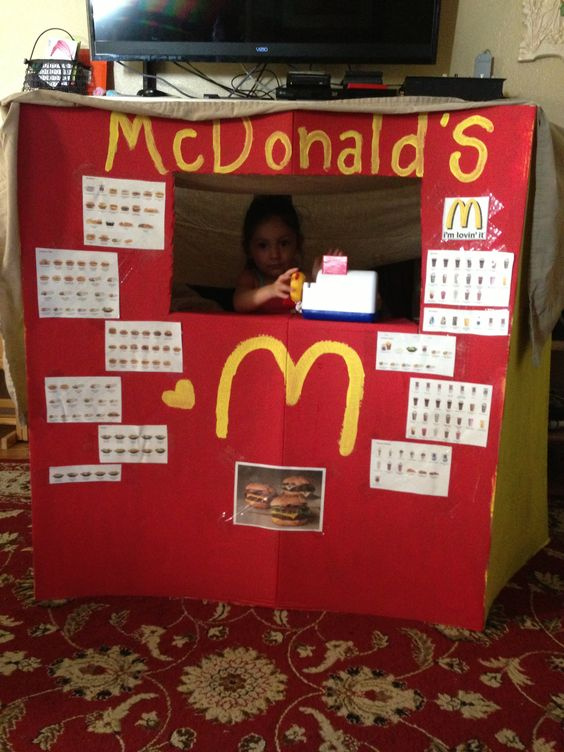 Mcdonald S Cardboard Project Ideas To Do With Kids
