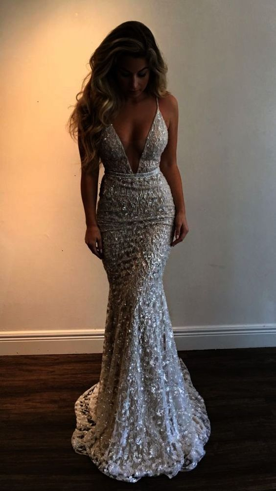 New Arrival Sexy Prom DressProm DressMermaid Prom DressLong Evening Dress - Thumbnail 1