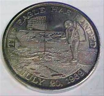 apollo xi commemorative token - photo #18