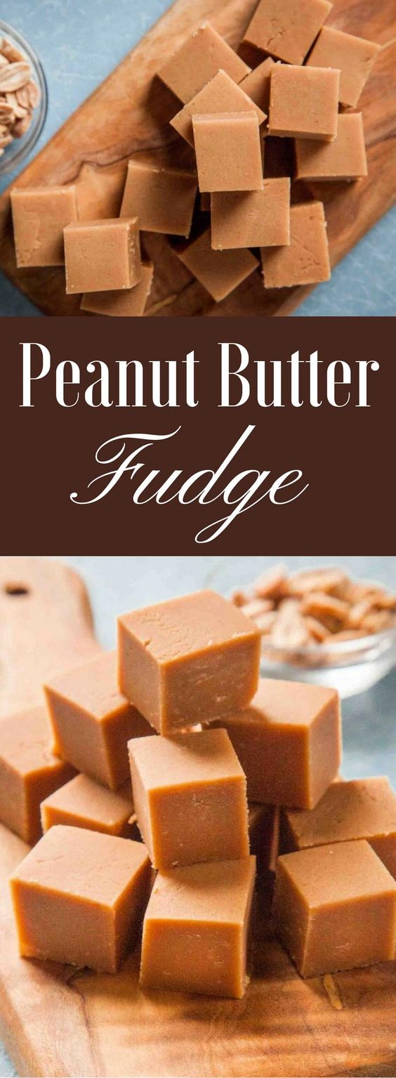 Quick and EASY peanut butter fudge! Make on the stovetop and pour into ...