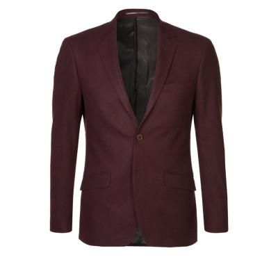 €156, Dunkelrotes Sakko von Bertoni. Online-Shop: Zalando. Klicken Sie hier für mehr Informationen: https://lookastic.com/men/shop_items/62507/redirect