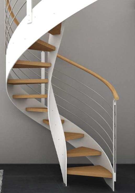 GAMME DESIGN Escalier hélicoïdal avec marche en hêtre et balustres ...