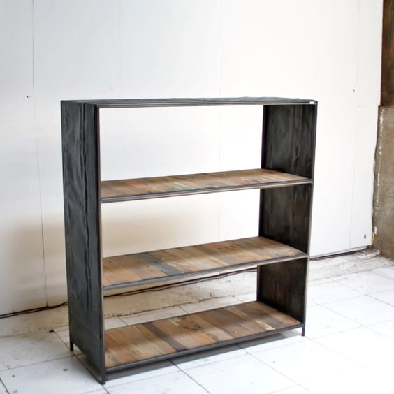 Biblioth que design industriel mod le 3 tag res pi ce for Etagere bois industriel