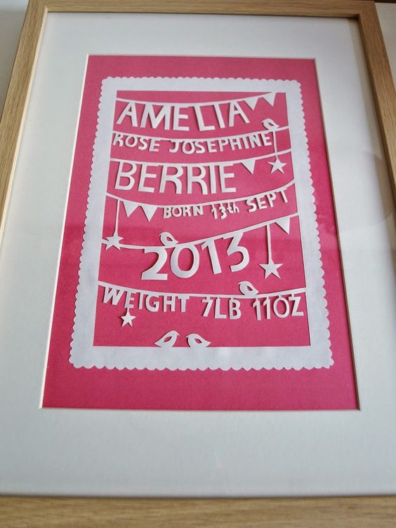 Crafted by Carly: Christening Papercut