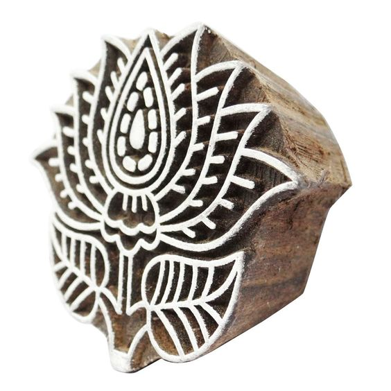 Wooden Printing Blocks Indian Hand Carved Textile Fabric Stamps | eBay