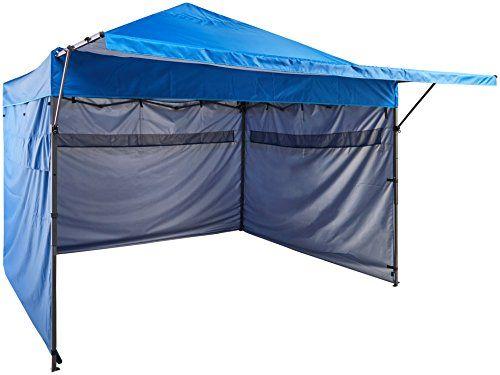 Amazonbasics 10 X 10 Pop Up Canopy With Sidewalls Blue Pared Lateral Tienda De Campana Plegables