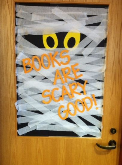 Classroom Door Decoration Ideas For Halloween ~ Good books wraps and october bulletin boards on pinterest