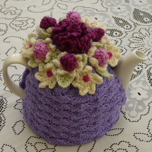 Free Tea Cosy Crochet Patterns Online : Tea cozy, Tea cosies and Teas on Pinterest
