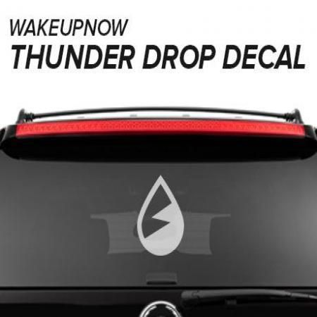 Customize your ride, phone, and whatever you like with the Thunder Drop Decal. Our WakeUpNow design team works hard to bring you quality designs to help you increase your business.