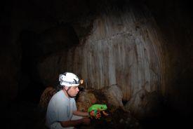 Javi the Frog with guide inside Venado Caves, Alajuela-La Fortuna de San Carlos, Alajuela