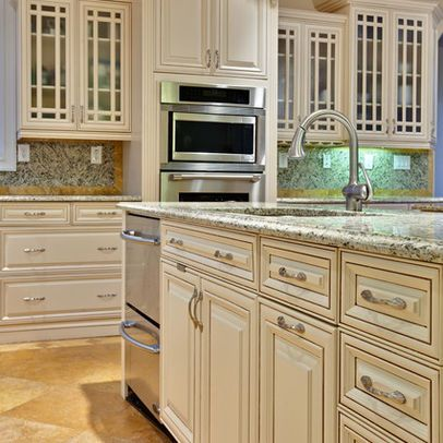 Nice antiques and photos on pinterest - How to glaze kitchen cabinets cream ...