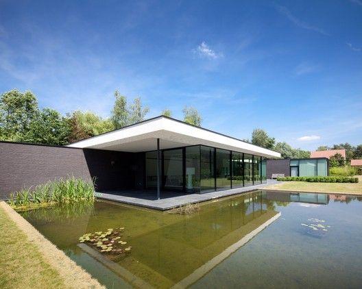 House Faes Hvh Architecten Pool House Designs Architecture House Modern House Plans