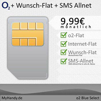 o2 Blue Select 4-fach Flat für rechnerisch nur 9,99€ *SIM ONLY*