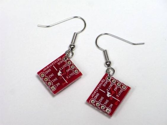 Earrings ハンドメイド電子部品アクセサリー『ILD213T基板 ピアス』 インテリア 雑貨 Handmade ¥2000yen 〆08月04日