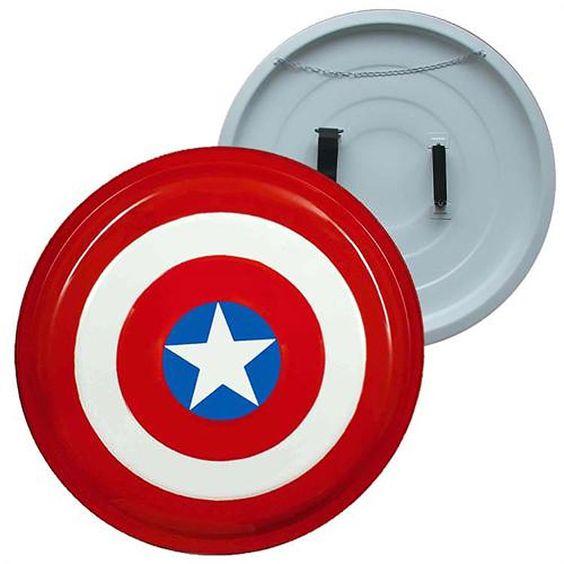 Escudo Capitán América. Metálico, 68cm