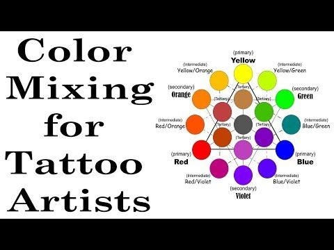 Color Theory Ink Mixing For Tattoo Artists Youtube Tattoo Ink Colors Ink Tattoo Tattoos