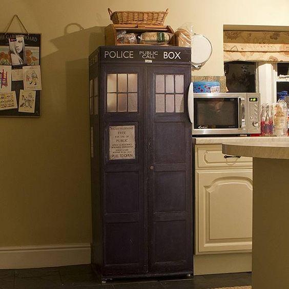 Dr Who tardis vinyl fridge cover by vinyl revolution | notonthehighstreet.com: